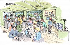 COURTESY OF THE CITY OF TUALATIN - This concept drawing shows what the inside of Tualatin's proposed mobile 'Makerspace' could look like.