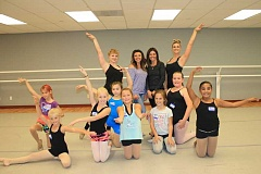HOLLY SCHOLZ - Girls in third to fifth grade auditioned for the Creative Force Mini Troupe, offered through High Desert Dance Arts, on Friday, Oct. 2. Back row: instructor Kalysa Bond, owners Rita McClellan and Mica Stafford, and instructor Stephanie Rhoden. Middle row left to right: Odessa Potter, Avery Chamness and Hayley Nelson. Front row left to right: Rylee Dennis, Merritt O'Gorman, Aspen Cross, Brooklyn Ward and Andrea Ortiz.