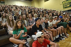 SPOKESMAN PHOTO: VERN UYETAKE - The West Linn High School freshmen class has 501 members, 51 more than any other grade level.