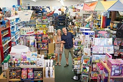 COURTESY OF ANNIE LINDEKUGEL - Thinker Toys owners Joan and Tye Steinbach are celebrating  the store's 21st anniversary Nov. 6-8.