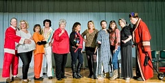 AL STEWART PHOTOGRAPHY/TUALATIN - The cast of 'Christmas Belles' includes  (from left) James Montgomery, Janelle VanPelt, Diana LoVerso, Ted Schroeder, Patricia Romans, Andrea McGrady, Kari Trickey, Stephen Radley, Aurea Taylor, Virginia Kincaid and Michael Allen.