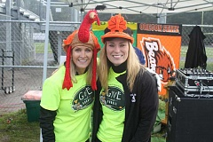 SUBMITTED PHOTO - Give n' Gobble event founder Cindy Aggson and community director Shelly Rath pose for a photo at a previous race.
