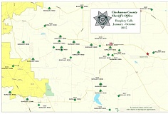CCSO - Burglary map of Redland and Beavercreek.