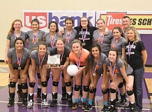 JEFF WILSON/THE PIONEER - Culver placed second at the 2A volleyball tournament, its fifth-stright year to bring home a trophy.