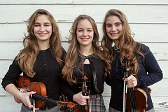 COURTESY PHOTO - Sophia, Hulda and Grace Quebe are ready to bring Western swing to Forest Grove through the power of the fiddle.