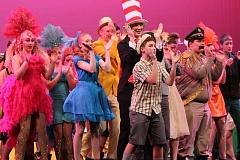 SPOKESMAN PHOTO: ANDREW KILSTROM - Wilsonville students performed ''Seussical The Musical' for the final time Saturday, Nov. 14 in front of a packed house.