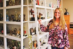 POST PHOTO: KYLIE WRAY - Heather Moyer owns Fan Club Creations and Awards, which opened a storefront location on Industrial Way in Sandy in September.