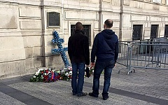 COURTESY OF NICOLE DECOSTA - Flowers at impromptu memorials were placed around Paris to honor victims of the Nov. 13 terrorist attacks.