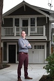 TRIBUNE PHOTO: JONATHAN HOUSE - James Peterson's property taxes doubled after building this 522-square-foot ADU atop his garage in Northeast Portland, due to Multnomah County's new taxation policy for ADUs.
