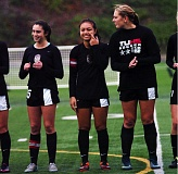 DAN BROOD - Tualatin's (from left) Nicole LaTourette, Corinne Togiai and Samantha Harris were three of the six seniors who played a big role in the team's success this year.