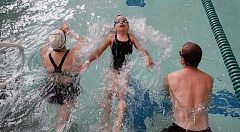 SUBMITTED PHOTO - Family swims are one example of drop-in programs that will offer a special free admission for THPRD patrons who donate two non-perishable food items on the three days following Thanksgiving.