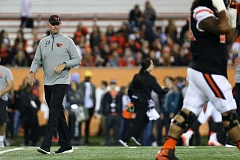 TRIBUNE PHOTO: DAVID BLAIR - Coach Gary Andersen and the Oregon State Beavers will have their work cut out for them against the Oregon Ducks on Saturday.