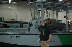 ESTACADA NEWS PHOTO: EMILY LINDSTRAND - 2015 Estacada High School graduate Bryce Hegar has worked at Reconcraft full time since graduation.
