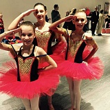 SUBMITTED PHOTO - 'The Nutcracker' performance includes these three soldier doll leads, from left, Reiley Lesyk, Kailey Murino and Olivia Jakubowski.