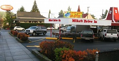 PHOTO BY: RAYMOND RENDLEMAN - The iconic exterior design of Oregon Citys Mike's Drive-In building won't change as the restaurant undergoes renovations.