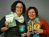 STAFF PHOTO VERN UYETAKE  - Lisa Alber, left, and Cindy Brown, will present a program on what it takes to write mysteries with their friend Gigi Pandian at the Lake Oswego Public Library at 2 p.m. Jan. 24.