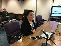 PARIS ACHEN - Se-ah-dom Edmo, president of Oregon Indian Education Association, speaks to the Oregon Board of Education Thursday, Jan. 21, to oppose an exception to a ban on American Indian mascots.