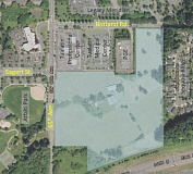 MAP COURTESY OF THE CITY OF TUALATIN - The Sagert Farm subdivision and associated roadwork will be constructed within the blue shaded area on this map, east of Southwest 65th Avenue in Tualatin.