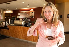 TIMES PHOTO: JAIME VALDEZ - Brenda Enyart owns Sauvie Island Coffee Company and recently took over Edge Coffee shop in Beaverton.