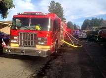 Firefighters from Forest Grove, assisted by the Cornelius, Banks and Gaston fire departments, put out a fire in the 3000 block of Brittany Drive in Forest Grove Friday afternoon, Jan. 22.