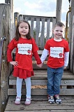 KAREN HUGHART - Two 2016 incoming kindergartners, Everley Yi and Brendan Hughart sport their new 'I'm going to TTSD Kindergarten' T-shirts.