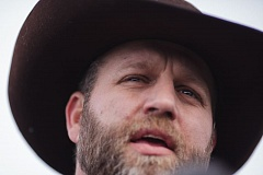 TRIBUNE PHOTO: ROB KERR - Ammon Bundy, who faces a federal charge in connection with the occupation of the Malheur National Wildlife Refuge, says in a recorded statement that the refuge takeover was the duty of the people to protest government bullying.