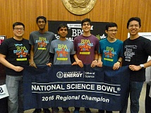 SUBMITTED PHOTO - Westview High School's Team 1 again captured first place in the BPA Regional Science Bowl and earned another berth in the national competition this spring. The team includes instructor Fabian Mak (from left) and members Akashay Pulavarty, Ananth Argawal, Priyansh Sharma, Bryan Lee and Anthony Zheng.