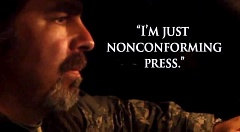 COURTESY OF THE PETE SANTILLI SHOW - Bombastic Internet talk show host Pete Santilli says he is a journalist reporting on the Harney County standoff and should be protected by the First Amendment. Federal prosecutors say he is a co-conspirator in the Malheur National Wildlife Refuge takeover and occupation.
