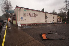 OUTLOOK FILE PHOTO - The Brass Rail Tavern in Troutdale sustained extensive damage in a fire Jan. 19.