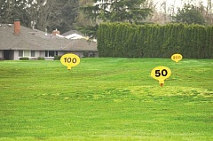 JAKE BARTMAN - A neighborhood of between 36 and 38 single-family homes are being planned for the seven acres currently occupied by the Charbonneau Golf Club's driving range.