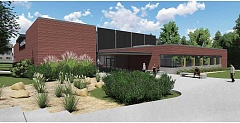 ARTIST RENDERING COURTESY OF GFU - A 30,000-square-foot student activity center will be erected on the northeastern bluff above Hess Creek at George Fox University starting in the summer of 2017.