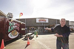 TIMES PHOTO: JAIME VALDEZ - Kent Drangsholt showed off the parking lot off Southwest Western Avenue where he still hopes to open Beaverton's first food cart pod. But he said recently that he first will open one on Walker Road just outside the city limits due to county requirements that are less restrictive and less costly than the city's rules.