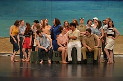 SPOTLIGHT PHOTO: NICOLE THILL - The Scappoose High School drama club rehearses for the spring musical 'South Pacific,' which will debut at the end of April next week.