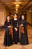 SUBMITTED PHOTO - From left, Fumika Mizuno, Talia Dugan and Haeun Jung will play solos in Portland Youth Philharmonics spring concert to be held May 1 at 4 p.m. at Arlene Schnitzer Concert Hall.