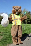 SUBMITTED PHOTO - Even Beaverton's mascot likes a clean street. He'll get some volunteer help with the city's new Adopt-a-Roadway program.