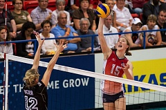 COURTESY: FIVA - For Portland native Kim Hill (right), MVP of the 2014 world championsips won by the U.S., next up is a tryout for the 2016 Olympic team.