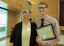 SUBMITTED PHOTO - Lakeridge senior Sam Levin took first place at the Young Historians Conference, a statewide competition launched by Lakeridge teacher Karen Hoppes.