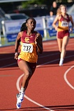 PAMPLIN MEDIA GROUP: DAVID BALL - Malika Washington leads Central Catholic to a sweep of the girls 400 at the MHC district meet Wednesday at Gresham High.