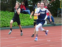 HERALD PHOTO: COREY BUCHANAN - Canby runner Neal Cranston won the 400-meter race at West Linn High School Wednesday, May 4.