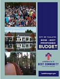 COURTESY OF THE CITY OF TUALATIN - The cover of the 2016-17 proposed budget for the city of Tualatin.