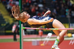 PHIL HAWKINS - Kennedy junior Sarah Therkelsen cleared 4-08 to place sixth at the 2016 state meet, the second-best height of her career.