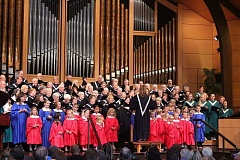 SUBMITTED PHOTOS - The youth and adult choirs of Lake Grove Presbyterian Church will join together in a 100-voice choir for a special concert to be presented twice next week.