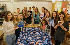 REVIEW PHOTO: JILLIAN DALEY - Riverdale High School freshman Rachel Cabot founded DIY for Doernbecher Service Team this January, and the group delivered some beautiful crafts to hospitalized kids at Doernbecher Children's Hospital on May 25.