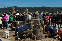CANNON BEACH CHAMBER OF COMMERCE - The 52nd annual Cannon Beach Sandcastle Contest, Saturday, June 11, brings out pros and amateurs alike to construct creations on the coast.