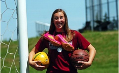 DAN BROOD - Emily Leonard shined for the Tualatin girls soccer, girls basketball and track and field teams during her four years at the school.