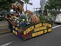 COURTESY OF KRISANNA CLARK - For the second year in a row, Sherwood took home the top prize in the Portland Rose Festivals mini float category. The float beat out nine others.