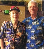 COURTESY: FRANK PETERS - Local legend Frank Peters (left), with the help of friend and ex-teammate Ed Fredenburg, has created a baseball board game.