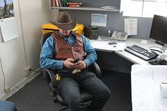 COURTESY PHOTO: JOHN SEPULVADO/OPB - Ryan Bundy, one of the leaders of the armed militants who have taken over the Malheur National Wildlife Refuge, says his group has not accessed government computers on the site.