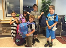 SUBMITTED PHOTO - Hallinan HOPES helps foster kids. Members of the volunteer group include (from left) Lily Harper, Sarah Buchanan, Luke Buchanan, Micah Buchanan and Henry Sahyoun.