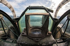 OUTLOOK PHOTO: JOSH KULLA - This is the view from the nose turret of a B-24 Liberator heavy bomber.